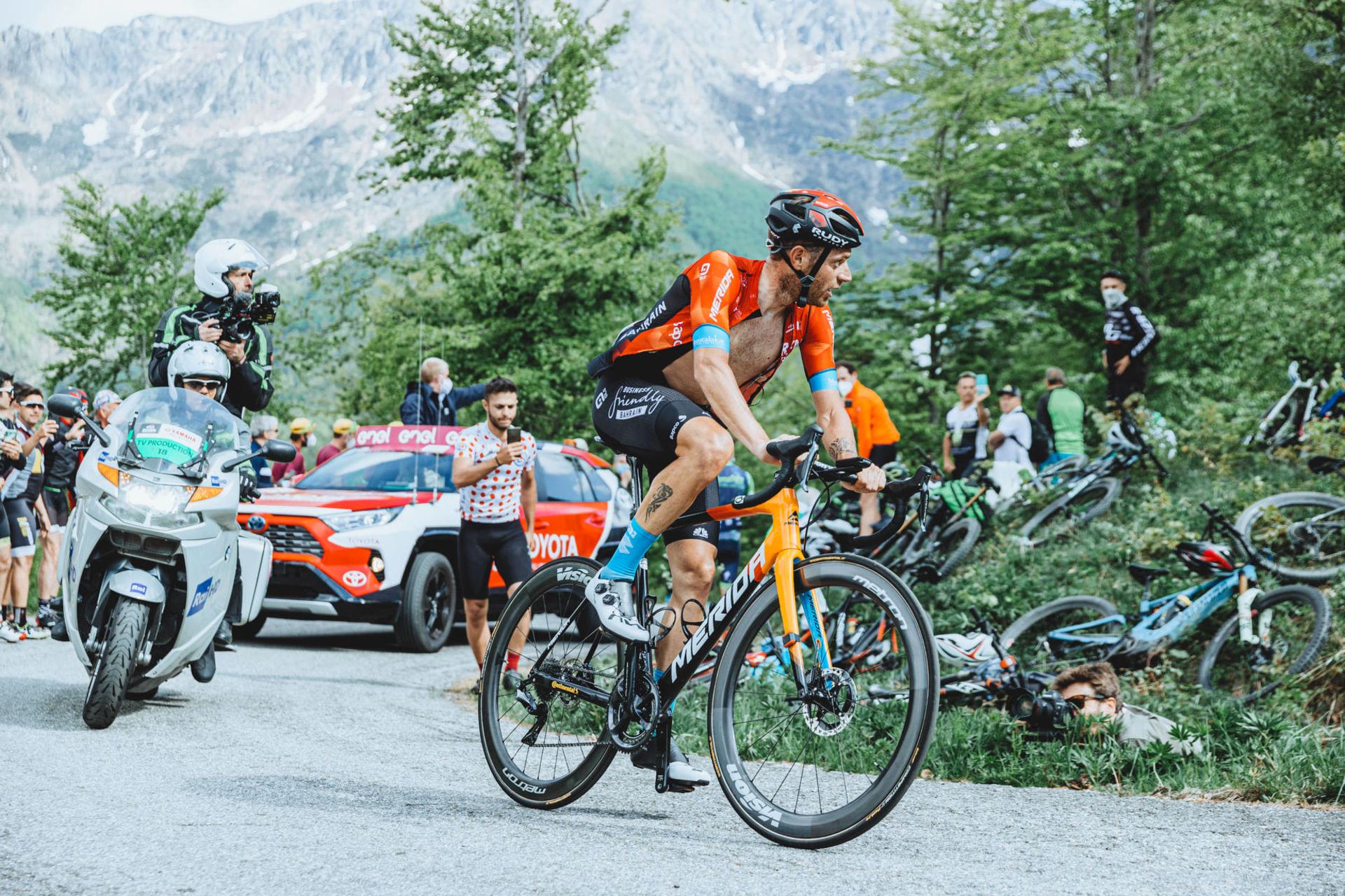 Giro d'Italia, Damiano Caruso, rowery Merida, Bahrain Victorious, Reacto, Scultura, rowery szosowe